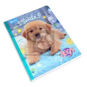 cuaderno cosido Dogs Smile Norma Grande 50 hojas rayado Niña