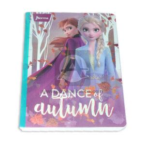cuaderno cosido con sticker motivo Frozen A Dance Norma Grande 100 hojas rayado Niña