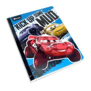 cuaderno cosido con sticker motivo de Cars Norma Grande 100 hojas cuadriculado Niño