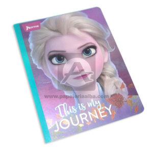 cuaderno cosido con sticker motivo de Frozen This is my journey Norma Grande 100 hojas cuadriculado Niña