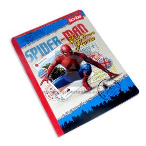 cuaderno cosido con sticker motivo de spiderman far from home Scribe Grande Niño 50 hojas rayado
