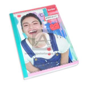 cuaderno cosido con stickers modelo personajes de disney Scribe Grande cuadriculado Niña 100 hojas