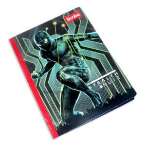 cuaderno cosido con stickers motivo Spiderman Stealth Suit Scribe Grande 50 hojas cuadriculado Niño