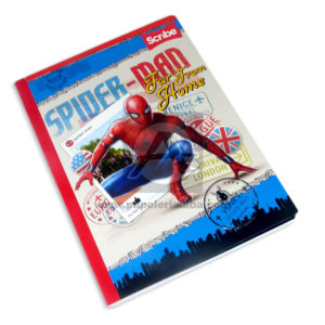 cuaderno cosido con stickers motivo de SpiderMan Scribe Grande cuadriculado Niño 100 hojas