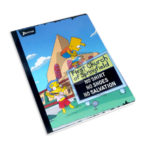 cuaderno cosido  fino con relieve Motivo Los Simpsons Norma Grande 50 hojas rayado Niño