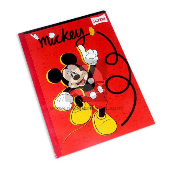 cuaderno cosido fino con sticker Mickey Mouse Scribe Grande 50 hojas rayado Niño