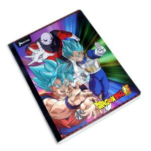 cuaderno cosido fino con sticker motivo Dragon Ball Super Norma Grande 100 hojas doble linea Niño