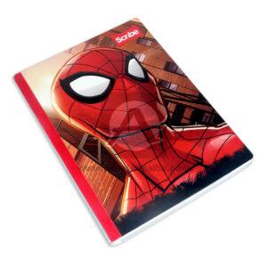 cuaderno cosido fino con sticker motivo Spiderman Scribe Grande 50 hojas cuadriculado Niño