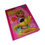 cuaderno cosido  fino con stickers Disney enredados Primavera Grande 100 hojas cuadriculado Niña