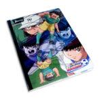 cuaderno cosido  fino con stickers supercampeones Norma Grande 100 hojas rayado Niño