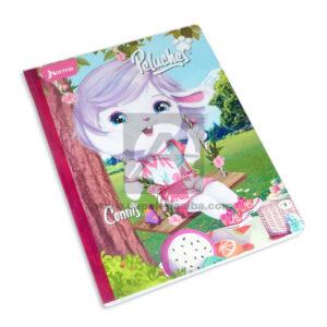 cuaderno cosido fino con textura linea peluches Connis Norma Grande 50 hojas rayado Niña