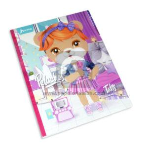 cuaderno cosido fino con textura linea peluches Tatis Norma Grande 100 hojas rayado Niña