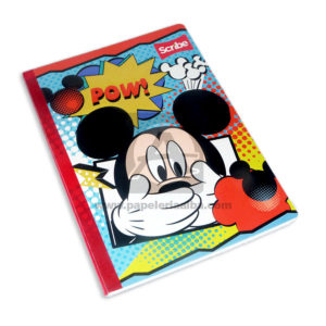 cuaderno cosido fino mickey mouse Scribe Grande 50 hojas cuadriculado Niño