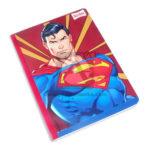 cuaderno cosido  fino motiva Justice League Superman Scribe Grande 100 hojas rayado Niño