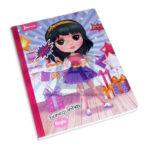 cuaderno cosido  fino motivo bonequinhas Norma Grande 100 hojas rayado Niña