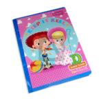 cuaderno cosido  fino pre-escolar toy story tipo D Primavera Grande 100 hojas doble linea Niña