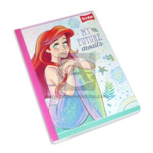 cuaderno cosido fino princesas disney sirenita ariel Scribe Grande 50 hojas rayado Niña