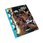 cuaderno cosido  motivo de cachorros Im Star Norma Grande Niña  rayado 100 hojas