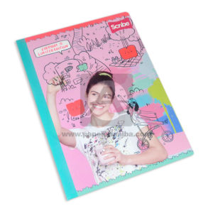 cuaderno cosido motivo personajes disney con stickers Scribe Grande rayado 50 hojas Niña