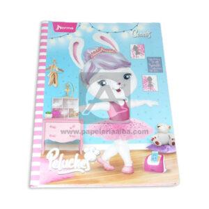 cuaderno cosido pasta dura Durabook Peluches Connis Norma Grande 100 hojas cuadriculado Niña