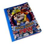 cuaderno  fino con stickers motivo Paw Patrol Primavera Grande 50 hojas cuadriculado Niño