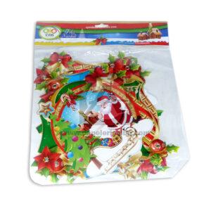 guirnalda navideña de letras Feliz Navidad C y M Multicolor Mediana 1 unidad