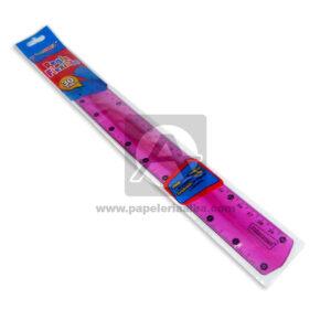regla flexible Primavera Grande 30 cm 1 unidad Niña Fucsia