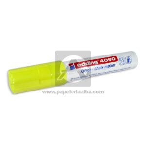 Recargable marcador Borrable para vidrios Ref-4090 Edding amarillo Grande