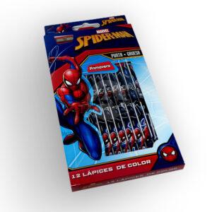 color Estampado Spiderman Marvel Primavera 12 unidades Niño Punta gruesa
