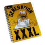 cuaderno argollado  fino Los Simpsons Generation XXL Norma Grande 100 hojas cuadriculado Niño