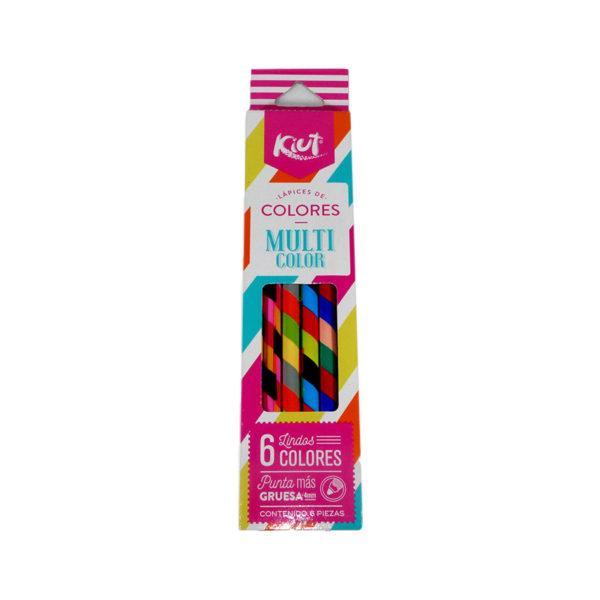 lápiz color Multicolor Kiut Norma 6 unidades femenino