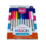 plumon marcador  Mágicos Kiut Cambian de Color Norma 12 unidades Multicolor