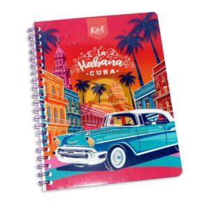 cuaderno argollado 105 Fino Kiut ARG-M1 Norma Grande cuadriculado 100 hojas femenino