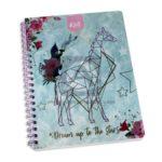 cuaderno argollado  105 Fino Kiut Arg-M6 Norma Grande cuadriculado 100 hojas femenino