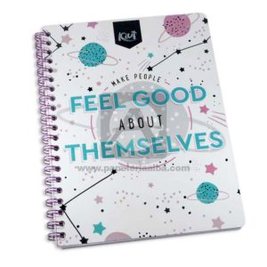 cuaderno argollado 105 Fino Kiut Arg-M8 Norma Grande cuadriculado 100 hojas femenino