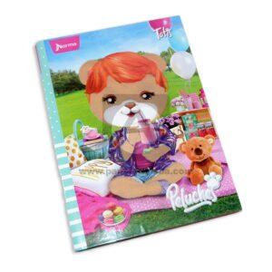 cuaderno cosido Peluches Tatis Norma Grande 100 hojas cuadriculado Pasta dura Niña