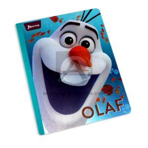 cuaderno cosido de Frozen 2 Olaf Norma Grande 100 hojas cuadriculado Niña