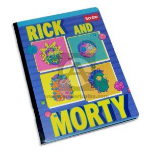 cuaderno cosido de Rick and Morty Scribe Grande 100 hojas cuadriculado Niño