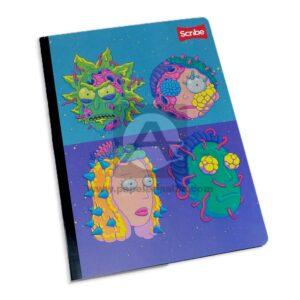 cuaderno cosido de Rick y Morty Scribe Grande 100 hojas cuadriculado Niño