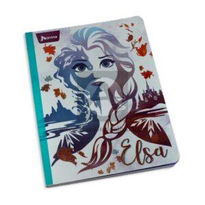 cuaderno cosido de frozen 2 Elsa Norma Grande 100 hojas cuadriculado Niña