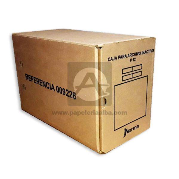 caja de archivo Inactivo #12 Norma 1 unidad