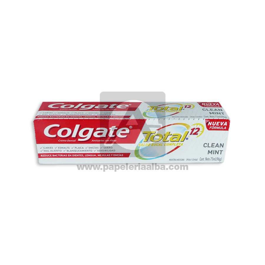 crema dental  Total Clean Mint Colgate 75 mL Grande 1 unidad