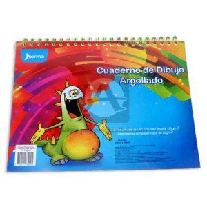 cuaderno de dibujo argollado 18 hojas Norma Grande