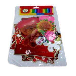guirnalda Letras Feliz Día Mujer C y M Grande 1 unidad Rojo