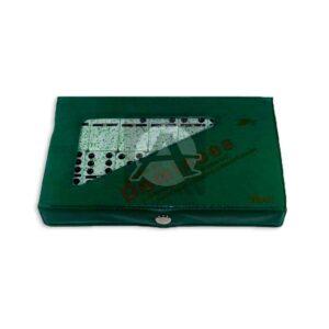 juego de mesa Dominó Jaspeado 28 Piezas Geoz Grande verde