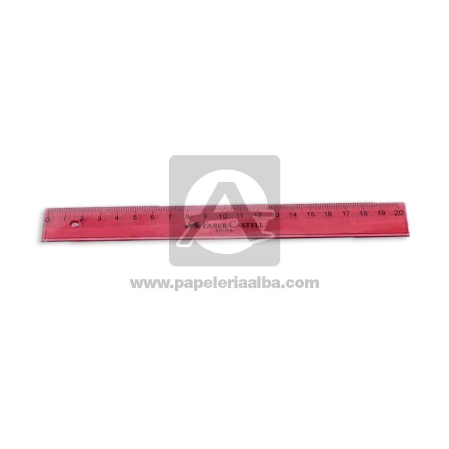regla  814-20AP faber castell 20 cm Rosado Plástico