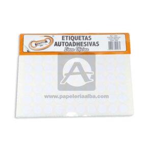 rotulo Autoadhesivo Circular Ref-1304 Imprentar blanco