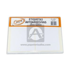 rotulo Autoadhesivo Linea Oficina 24 Rotulos Imprentar 110x80mm blanco
