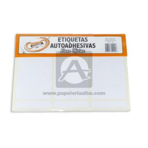 rotulo Autoadhesivo Linea Oficina 36 Rotulos Imprentar 100x53mm blanco