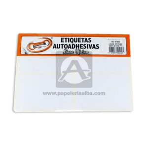 rotulo Autoadhesivo Linea Oficina 48 Rotulos Imprentar 81x53mm blanco